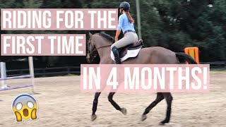 First Time Riding in 4 Months! | Equestrian Prep
