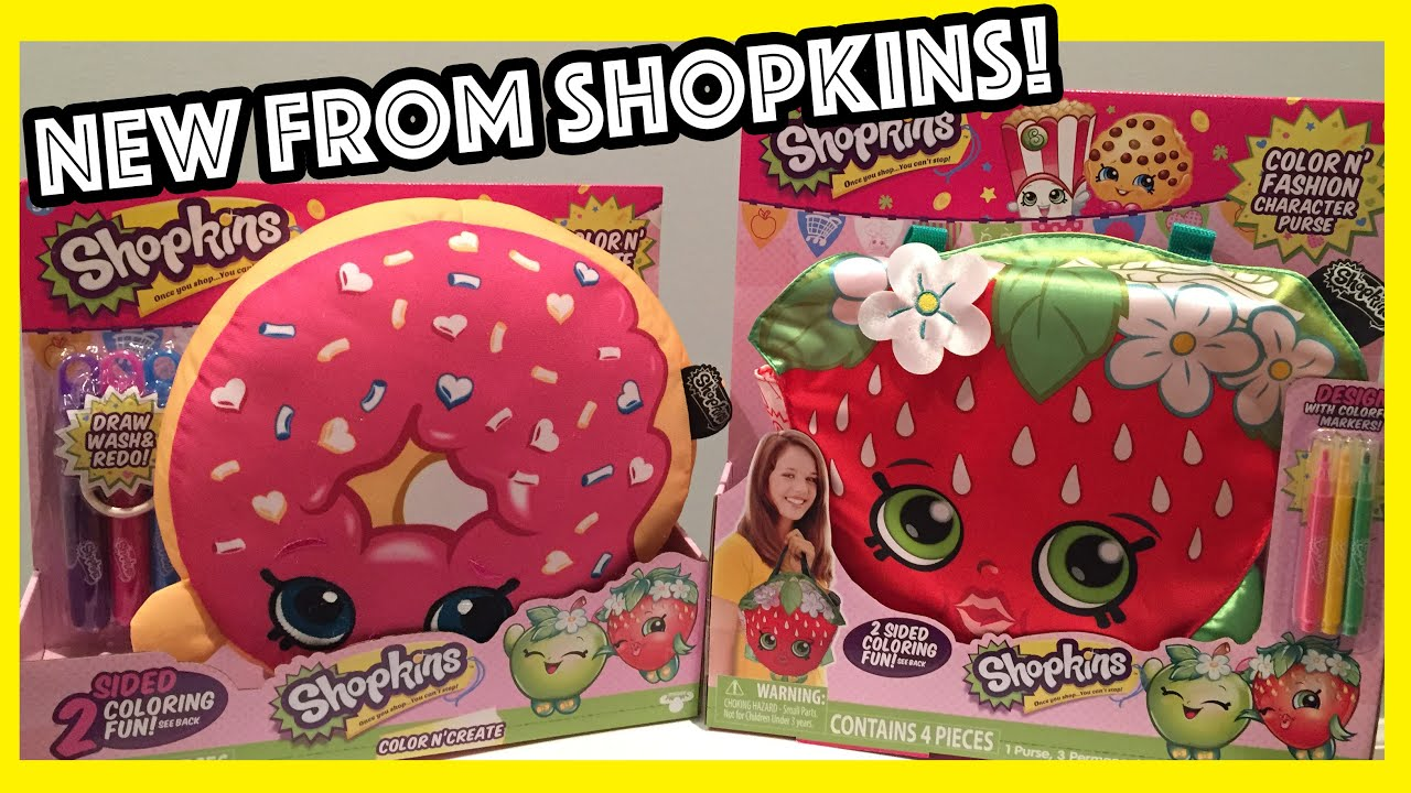 NEW SHOPKINS Color N' Fashion Bags and Create Activity Plush