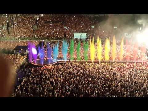 Abertura Show Coldplay São Paulo - 2016