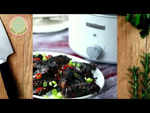 Slow Cooked Chinese Chicken Wings - HOW TO MIKE IT
