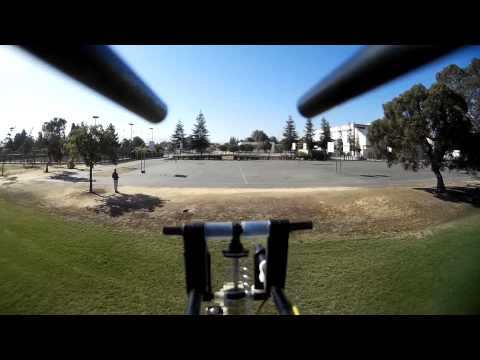 HD-Ultralight FPV-Flying- take-off, fly low, landing over Independence High School San Jose, CA