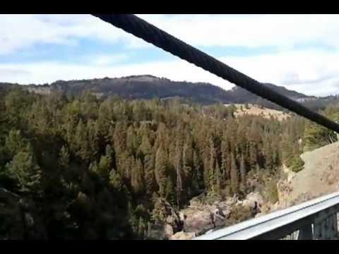 Hellroaring Suspension Bridge Crossing by John Carlee