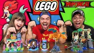 MONTANDO LEGO NINJAGO, ARIEL E POKÉMON (312 PEÇAS)
