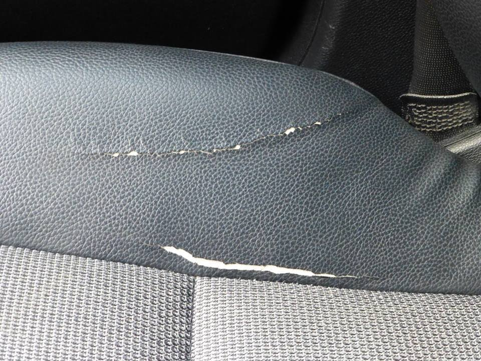How To Repair A Leather Tear In A Car Seat Youtube