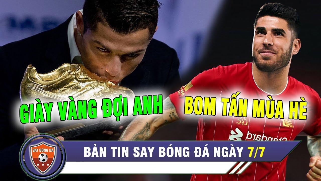 ĐIỂM TIN BÓNG ĐÁ 7/7 | Ronaldo BỨT TỐC đua giày vàng - Liverpool BẠO CHI 100tr mua sao Real