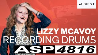 Lizzy McAvoy Audient Vlog #5 - Recording Drums on ASP4816