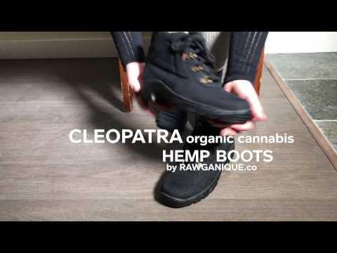 Women's Vegan Handmade Organic Cannabis Hemp Boots