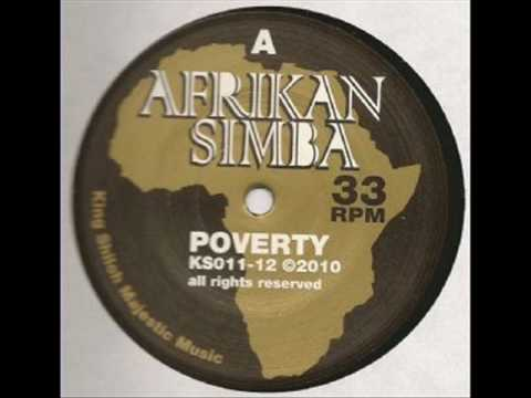 "Afrikan Simba - Poverty + dub1 (King Shiloh 12"")"