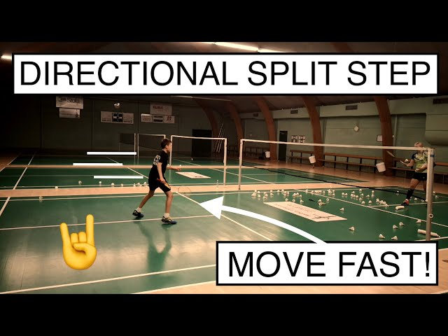 BADMINTON EXERCISE #81 - DIRECTIONAL SPLIT STEP (FAST footwork SECRET)
