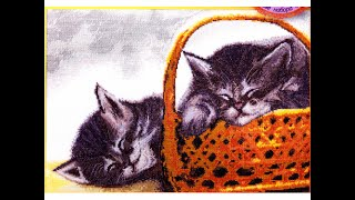 """Вышивка крестом. """"Коты""""(""""Сони"""") от Марьи Искусницы!"""