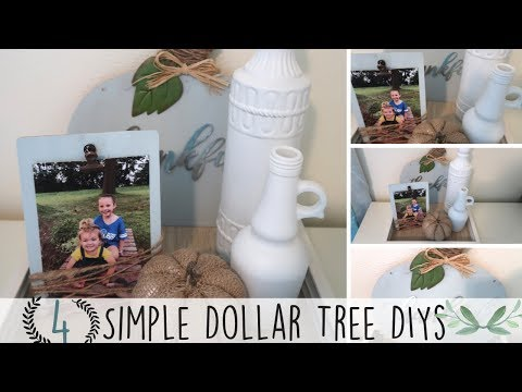 4 Simple Dollar Tree DIYs | Farmhouse Decor | DiY Farmhouse Style Decor | Budget Friendly Home Decor