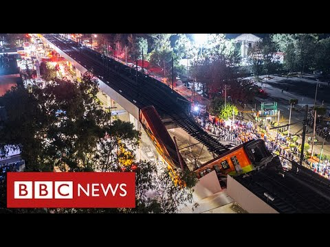 At least 24 dead after train plunges onto busy road in Mexico City - BBC News