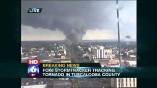 TORNADO CAUGHT LIVE in Tuscaloosa, AL April 27, 2011 (Original) thumbnail