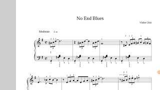 Easy piano / facile ! NO END BLUES Vadim Ghin - partition Jazz débutant / sheet music free score