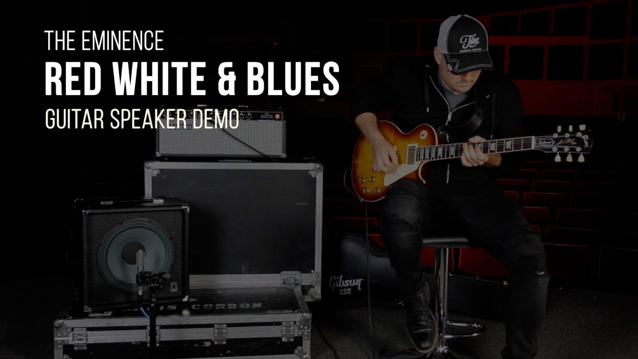 Eminence Red White And Blues Guitar Speaker Demo Youtube