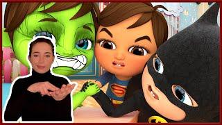 Super Heroes   Nursery Rhymes & Kids Songs   Banana Cartoon - Sign Language For Kids - ASL