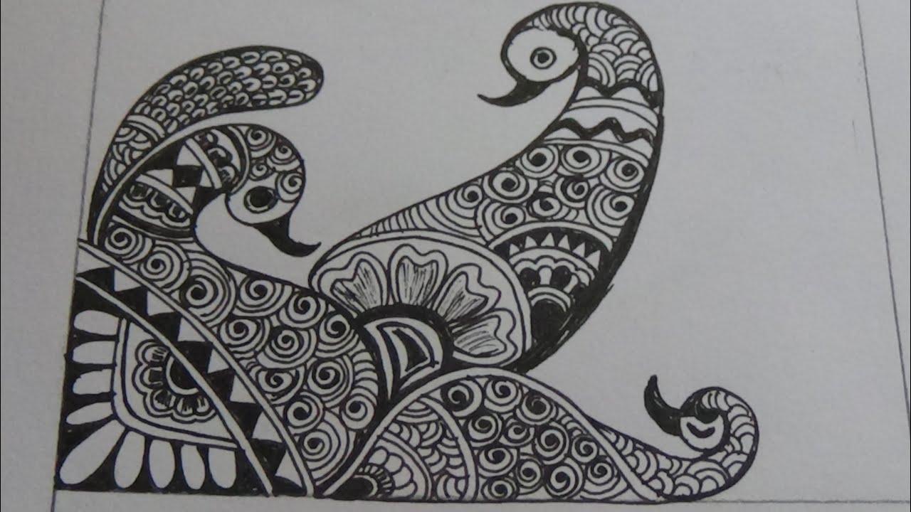 Mehndi Peacock Designs Drawings : Peacock bridal mehndi design youtube