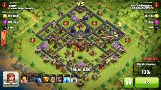 BM081 Balloons and Minions Strategy against champion level opponent Clash of Clans CoC