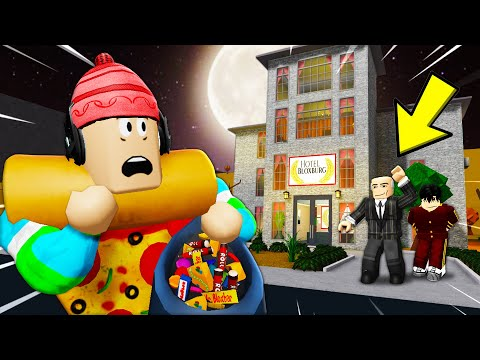 I Went Trick Or Treating At A Haunted Hotel! The Owner Trapped Guests! (Roblox Bloxburg Story)