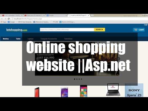Asp Net C Net Online Shopping Cart Project Website Ope
