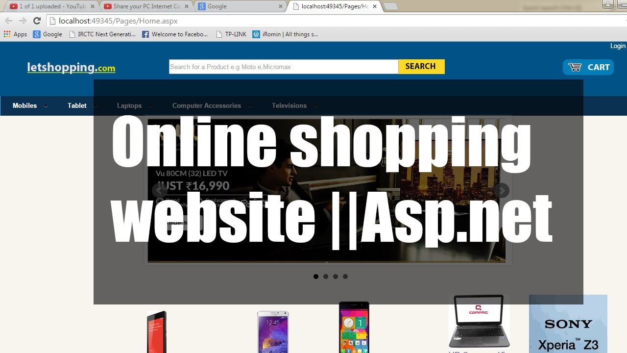 Online shopping website project in asp net youtube for Online websites for shopping
