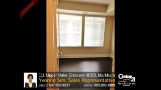 111 Upper Duke Crescent #315, Markham - Home for Sale by Yvonne Sim, Sales Representative