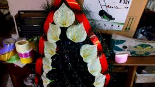 Видео урок №2 украшения  ритуальных венков.