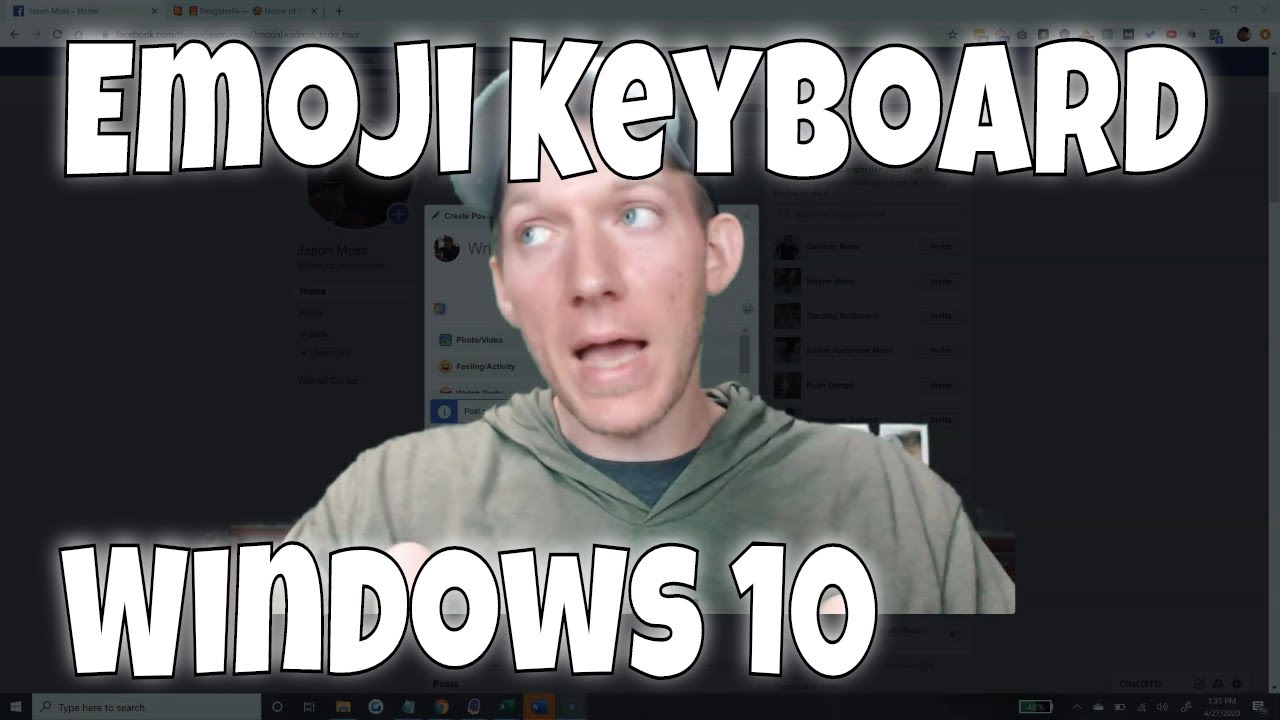 How To Use Emoji Keyboard On Windows 10 No Download Needed Youtube