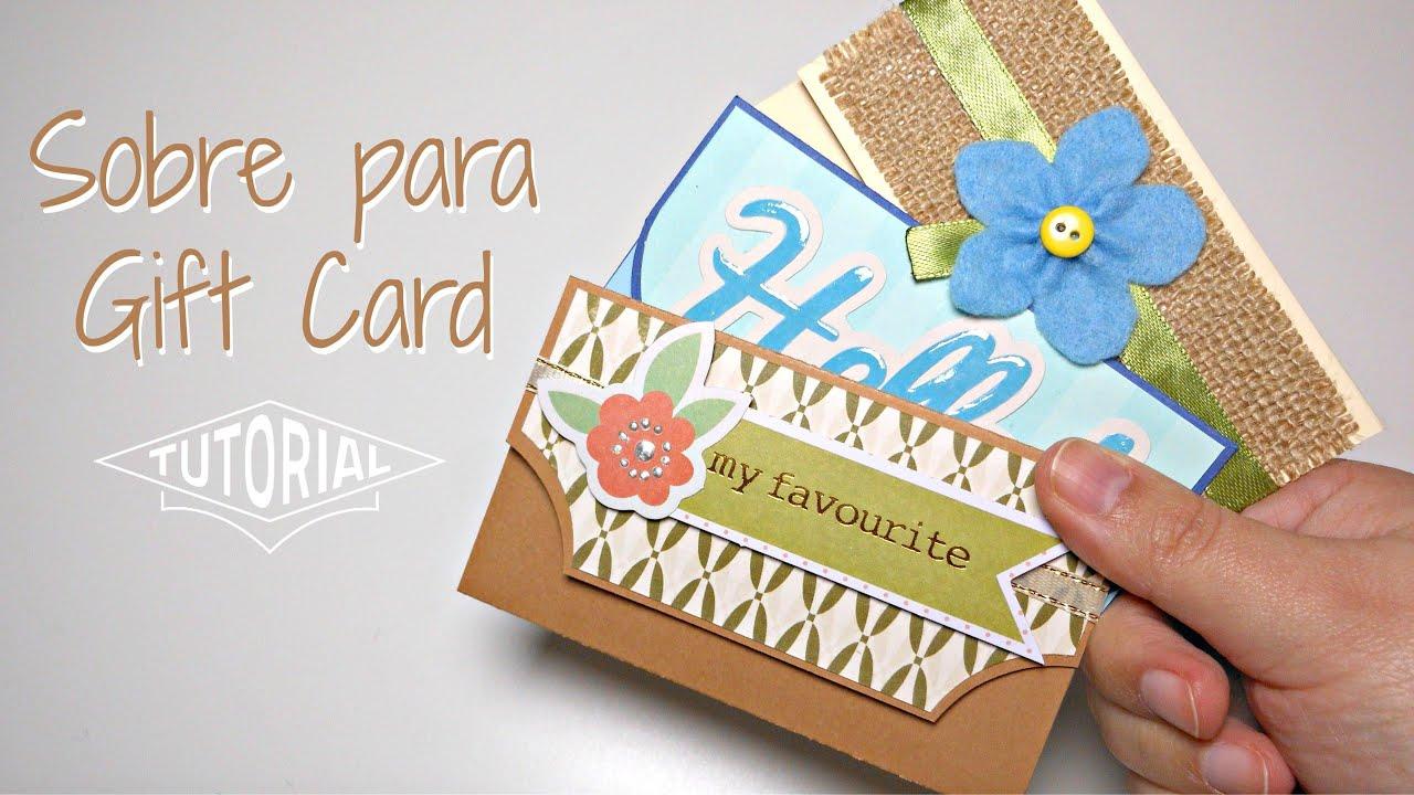 Tarjeta sobre de regalo flamenco
