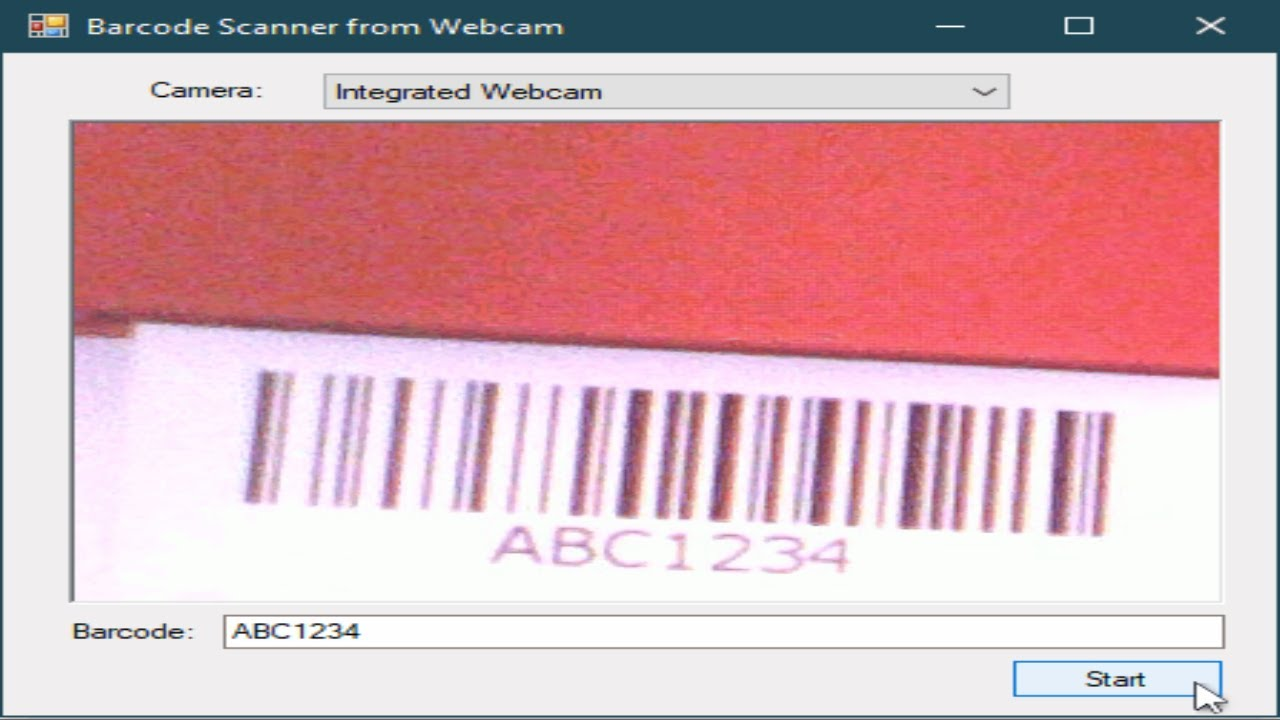 C Tutorial Barcode Scanner Using Webcam In C Foxlearn Youtube