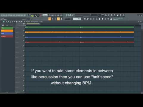 How to change Bpm in 3 Ways in FL Studio 20? What is Half speed??