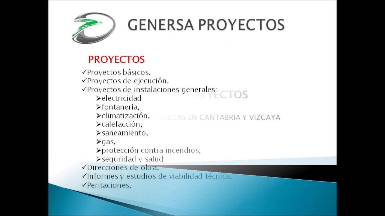 Genersa proyectos certificados energ ticos proyectos y for Certificado energetico en santander