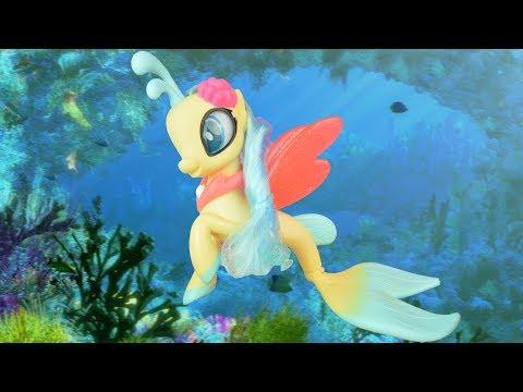 SEA PONY! My Little Pony the Movie Mermaid Princess Skystar Seapony Toy Review | MLP Fever