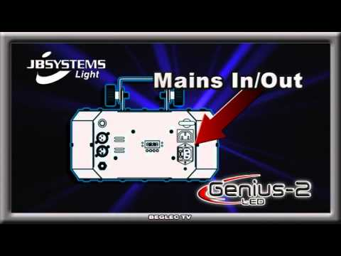 JBSystems Genius 2 LED - démo officielle - www.music-center-france.com