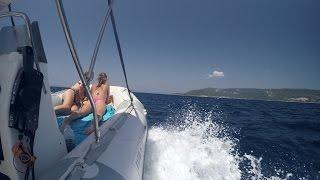 Zodiac RIB boat trip , snorkeling Cres (Kovačine) Croatia July 2016
