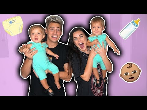 Thumbnail: ADOPTED TWIN BABIES FOR THE NIGHT! *WE'RE BAD PARENTS!*