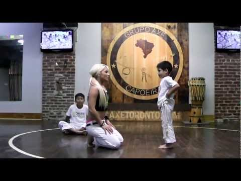 "Kids Capoeira Training -  How to spot your children in a ""Bananeira"""