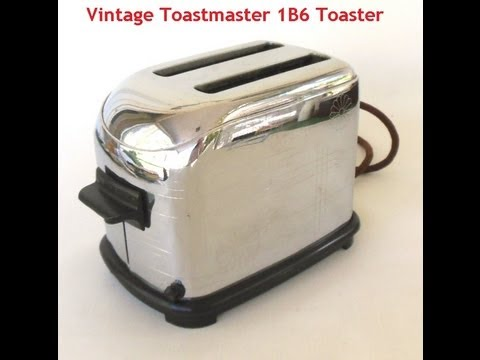 Vintage Toastmaster Toaster 1B6 w Ticking Timer