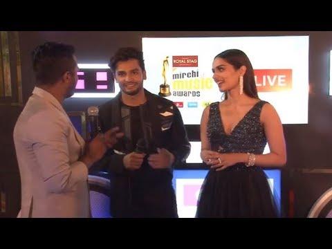 Manushi Chhillar & Rohit Khandelwal spotted together at Royal Stag Mirchi Music Awards