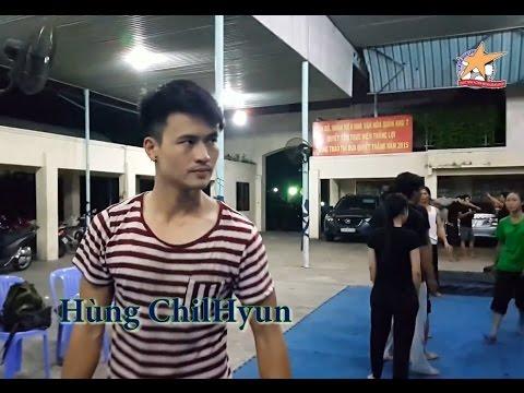 Hùng ChilHyun hậu trường tập võ phim Lật Mặt 2