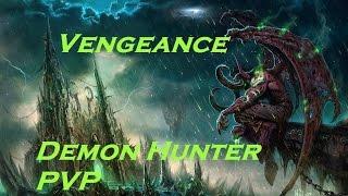 WoW: Legion (Beta) Level 110 Vengeance Demon Hunter PvP Tank spec Arena and BG Compilation