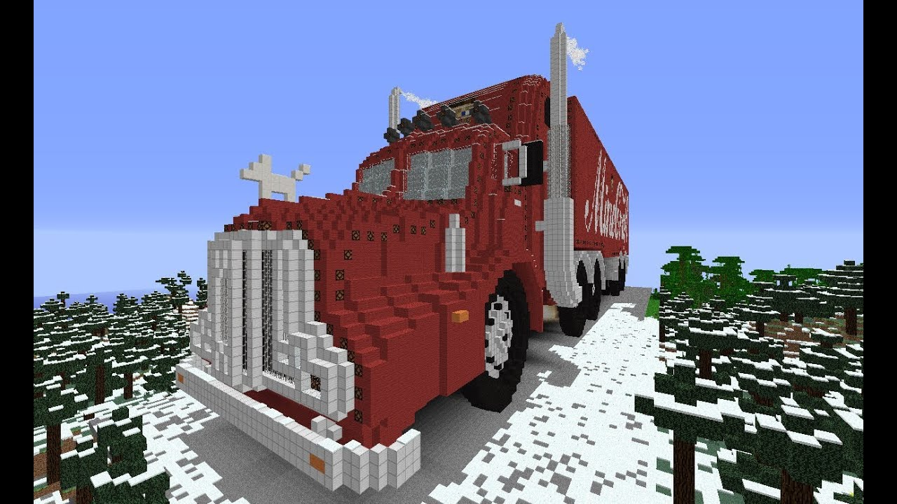 Let 39 s show minecraft 1 6 4 piston house truck part 7 for Modern house 8 part 6