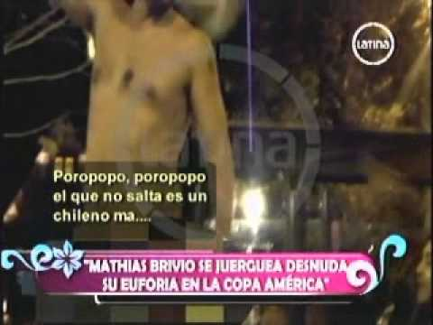 Mathias Brivio se desnuda en copa América- canal2