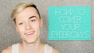 How to Cover Your Eyebrows with Makeup for Halloween/Drag