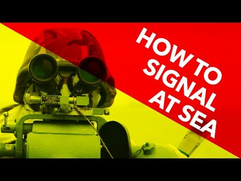 How to signal at sea