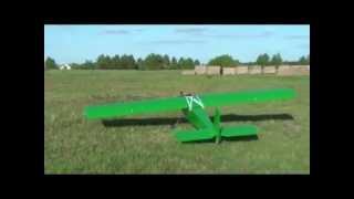 Samolot z silnikiem od kosiarki