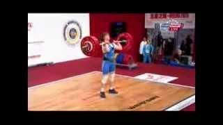 Женщины 63 кг Толчок ЧМ-2013