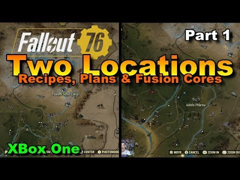 Fallout 76 Two Locations Recipes Plans Fusion Cores Part 1 Youtube