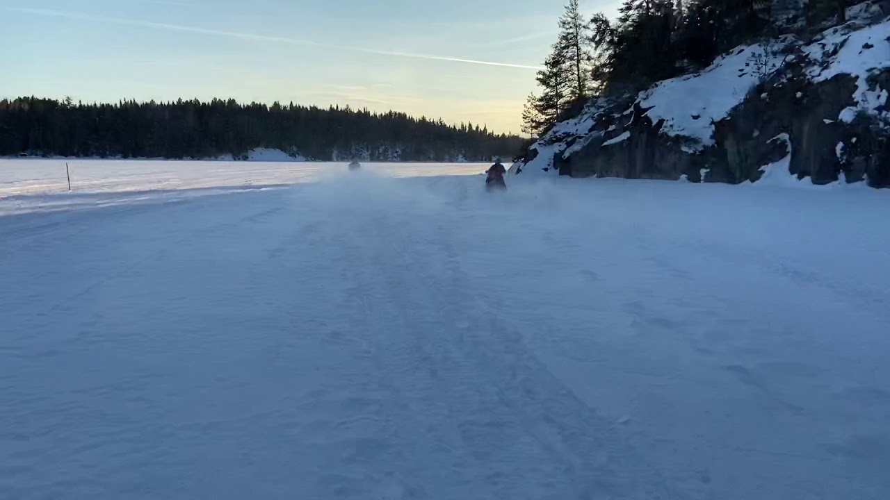 Snowmobiling Robinson Falls North of Sioux Narrows ON - Feb 21 2020