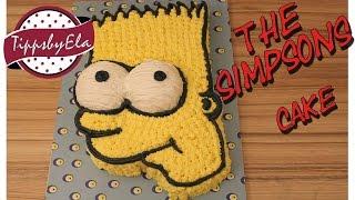 Bart Simpsons cake (How to)Bart Simpson Torte selber machen Anleitung Deutsch